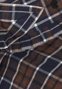 Victoria Beckham - RUFFLE - Button-down blouse - brown/navy - 8