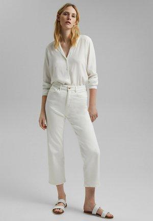 Straight leg jeans - off white