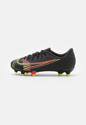 JR MERCURIAL VAPOR 14 ACADEMY FG/MG UNISEX - Moulded stud football boots - black/cyber/off noir