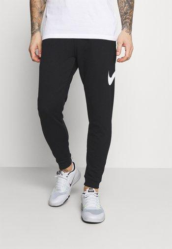 TAPER - Pantalones deportivos - black/white