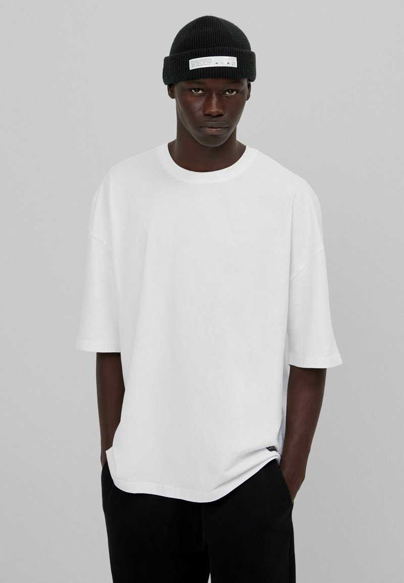 Bershka - Basic T-shirt - white
