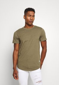 Jack & Jones - ENOA TEE CREW NECK MELANGE 5 PACK - T-shirt basic - olive night/olive/navy/rio - 1