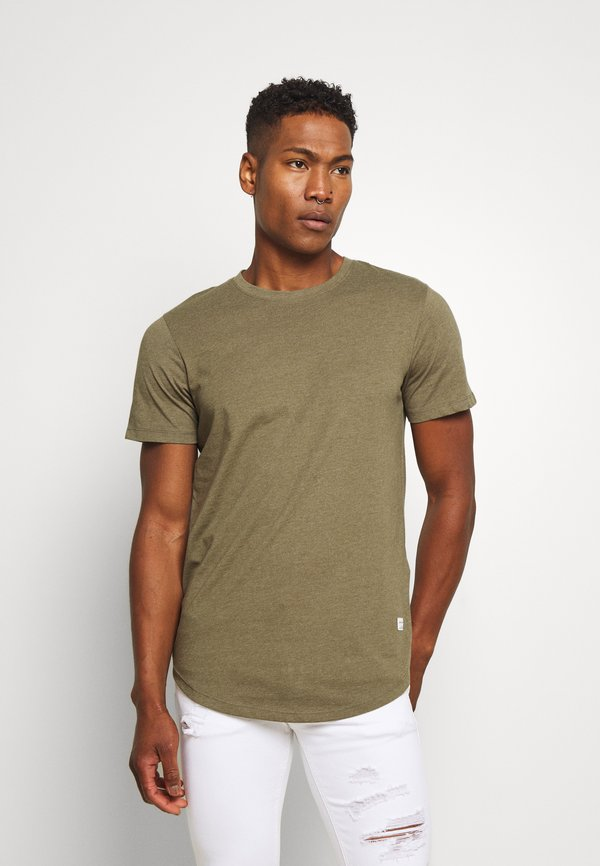 Jack & Jones ENOA TEE CREW NECK MELANGE 5 PACK - T-shirt basic - olive night/olive/navy/rio/wielokolorowy Odzież Męska NJOP