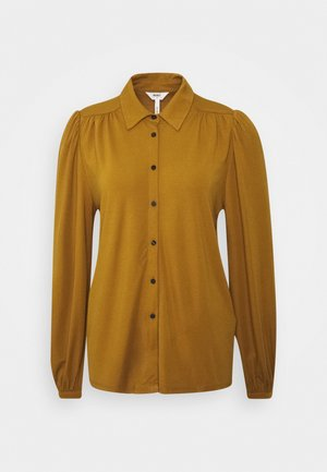OBJLAY  - Button-down blouse - tapenade
