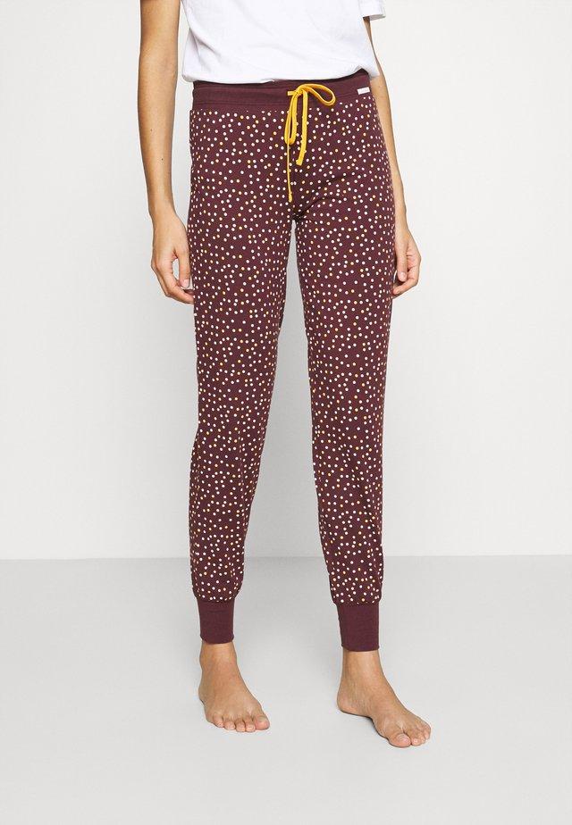 MORNING STRETCHING - Pyjama bottoms - aubergine dots