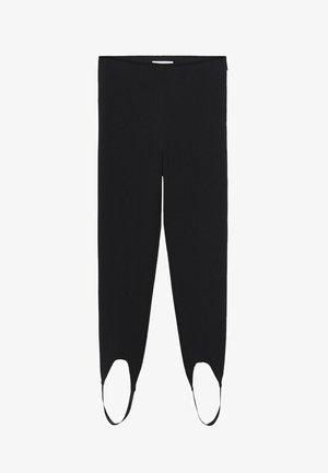 Pantalón de cuero - noir