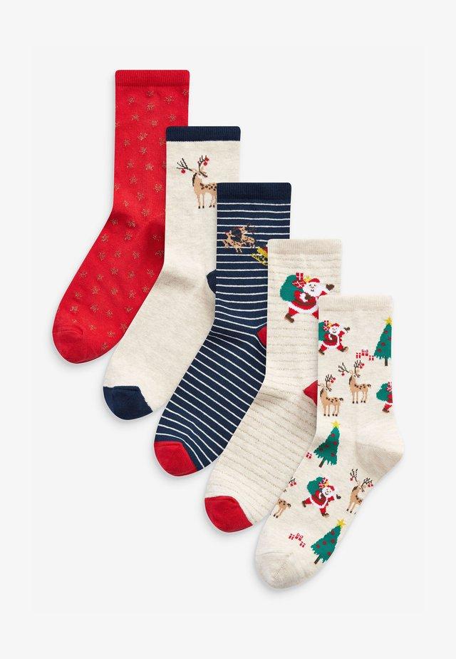 SANTA 5 PACK - Socks - dark blue