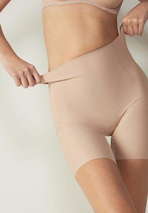 MIT OFFENEN KANTEN - Panties - beige