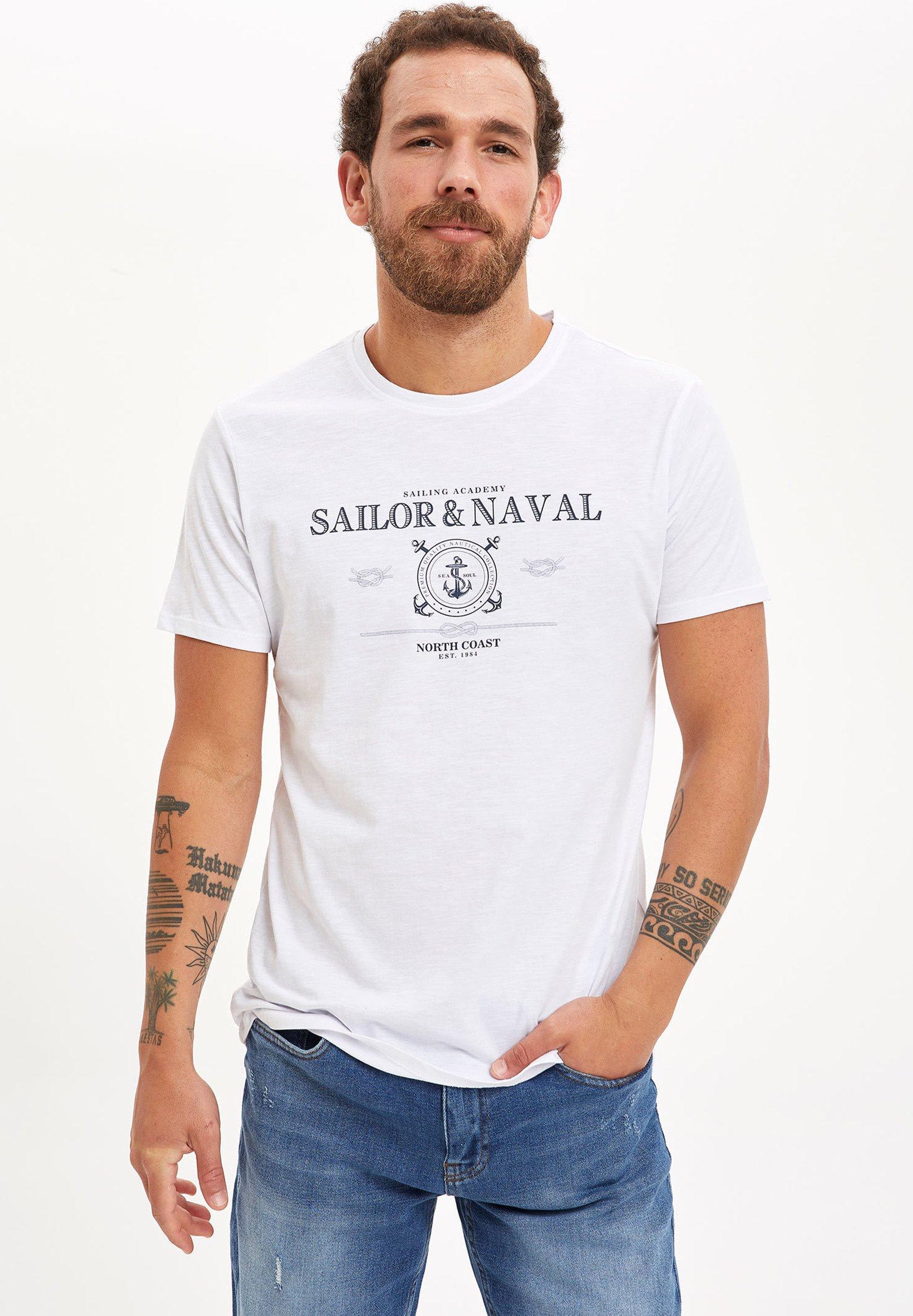 DeFacto Print T-shirt - white Ykg44