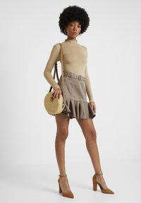 River Island - PRISCILLA FRILL HEM - A-line skirt - stone - 1