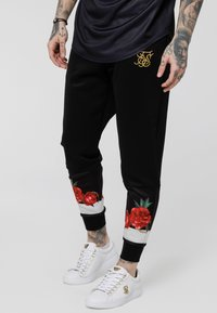 SIKSILK - MAJESTIC CUFFED CROPPED - Joggebukse - black - 4