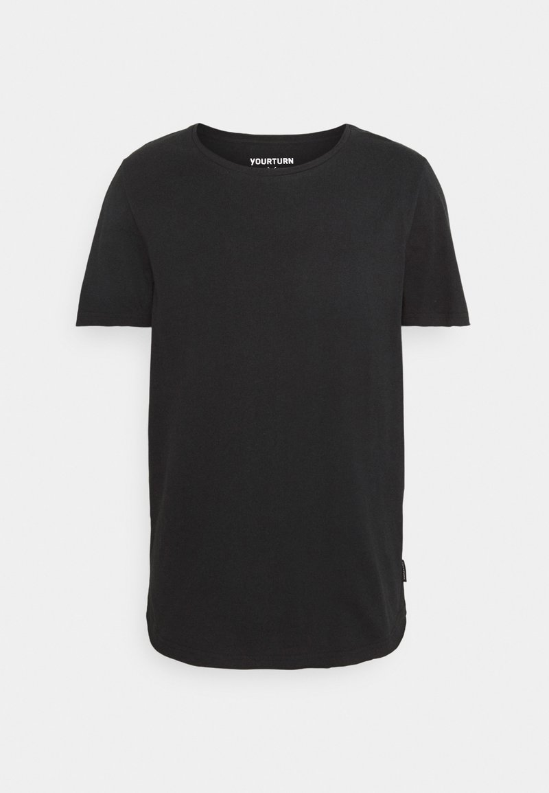 YOURTURN - RAW EDGE UNISEX - T-shirt - bas - black