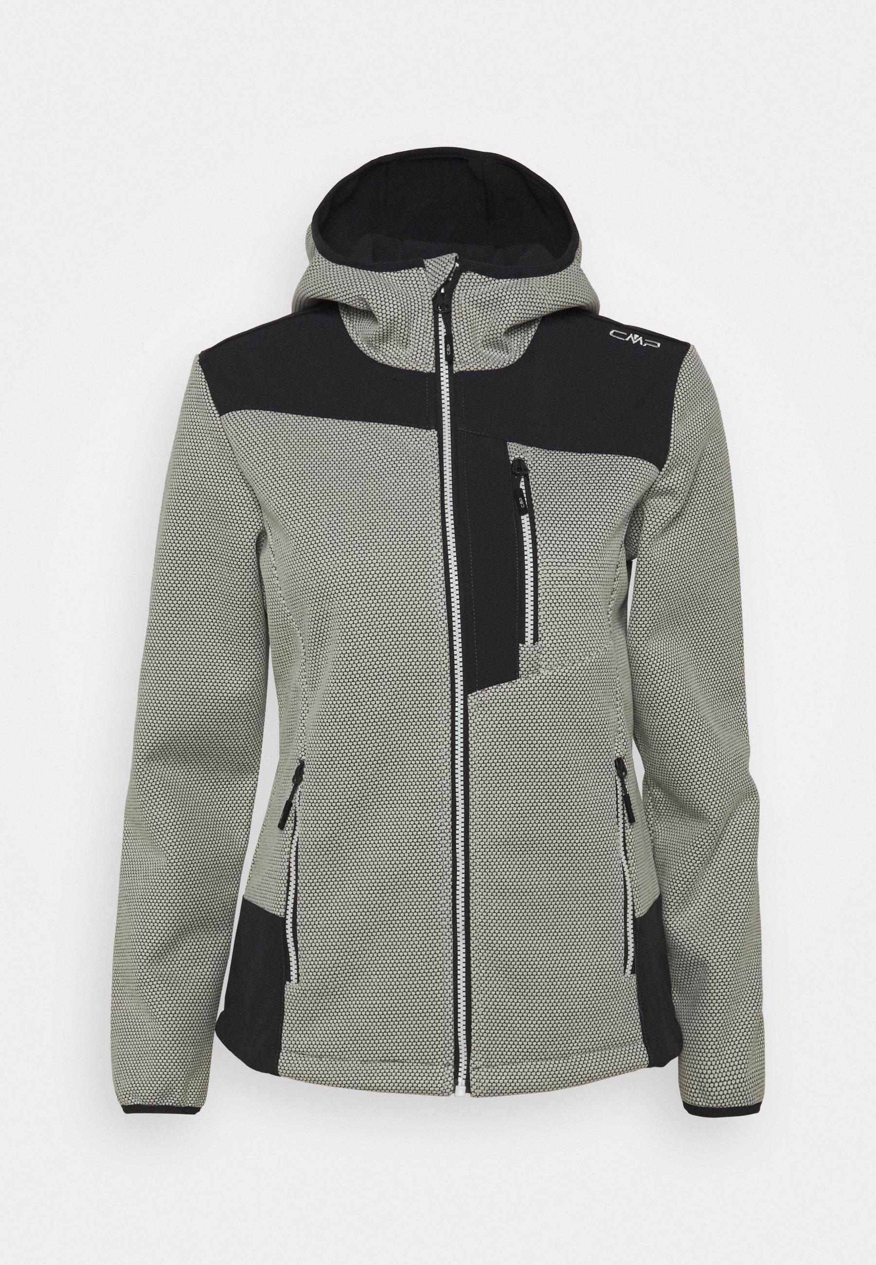 CMP Outdoorjacke Jacke WOMAN PARKA FIX HOOD schwarz wasserabweisend atmungsaktiv