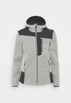 WOMAN JACKET FIX HOOD - Lehká bunda - gesso