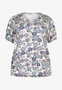 Studio - Print T-shirt - beige blue flowered - 3