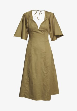 THE LOVEHEART NECKLINE DRESS - Korte jurk - khaki army