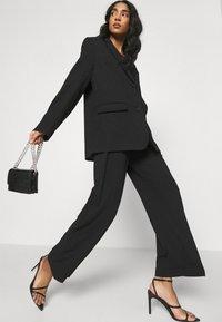 Miss Selfridge - SMART WIDE LEG - Kalhoty - black - 3