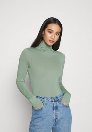 ROLL NECK - Long sleeved top - light green