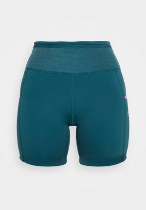 EPIC LUXE  - Leggings - dark teal green/pink glow/turquoise blue/reflective silver
