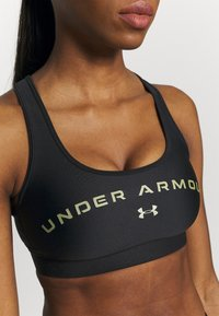 Under Armour - MID CROSSBACK BRA - Brassières de sport à maintien normal - black - 5