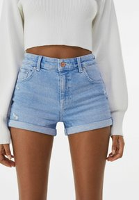 Bershka - Denim shorts - blue - 0