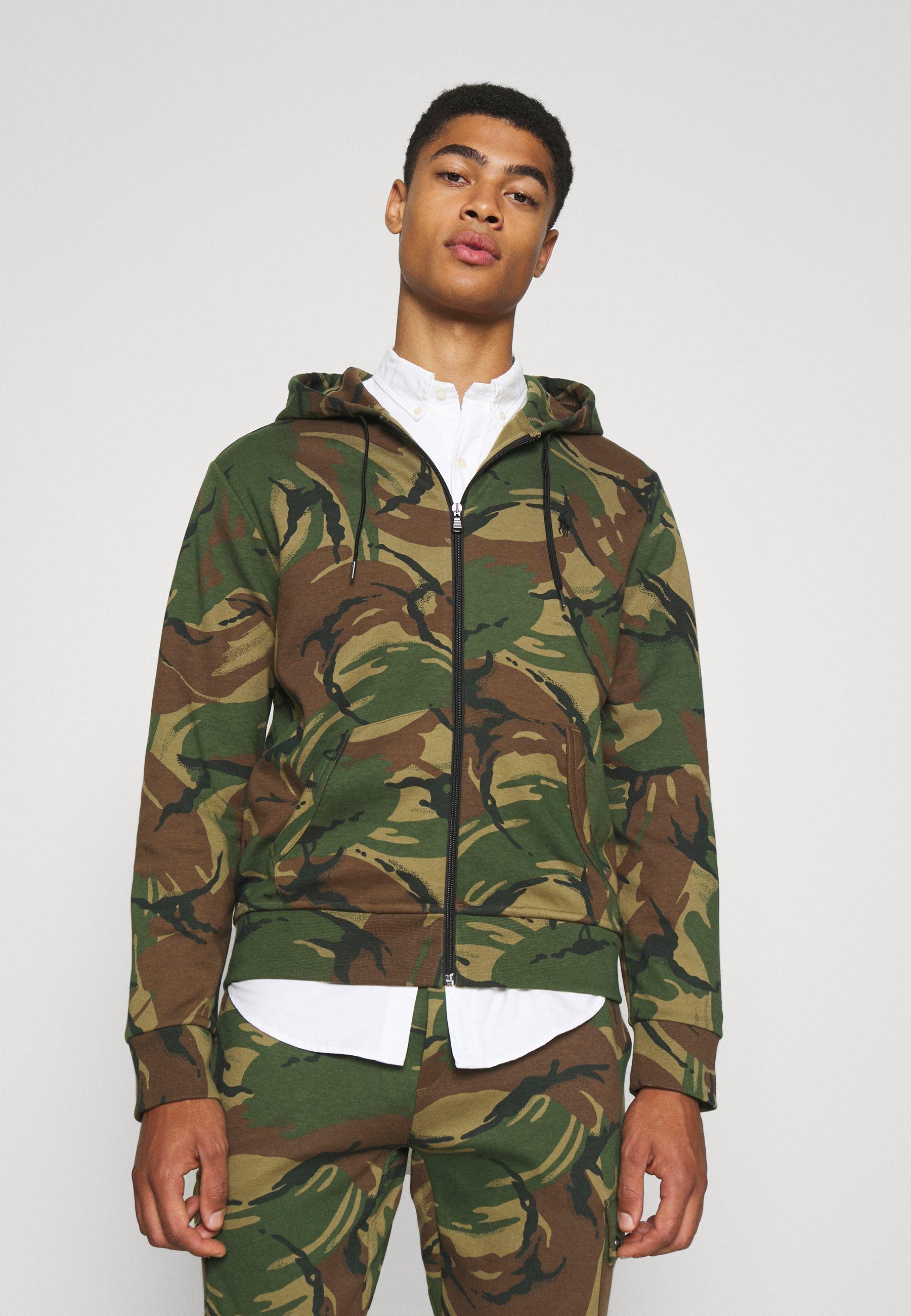 Men LONG SLEEVE - Zip-up sweatshirt - british elmwood
