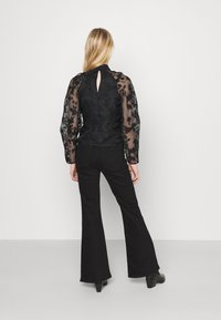 Gina Tricot - YLVA BLOUSE - Long sleeved top - black - 2