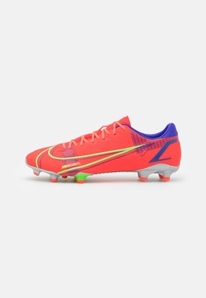 MERCURIAL VAPOR 14 ACADEMY FG/MG - Moulded stud football boots - bright crimson/metallic silver