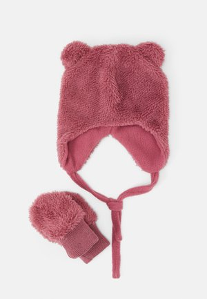 NBFMELBEL SET - Gorro - rose wine