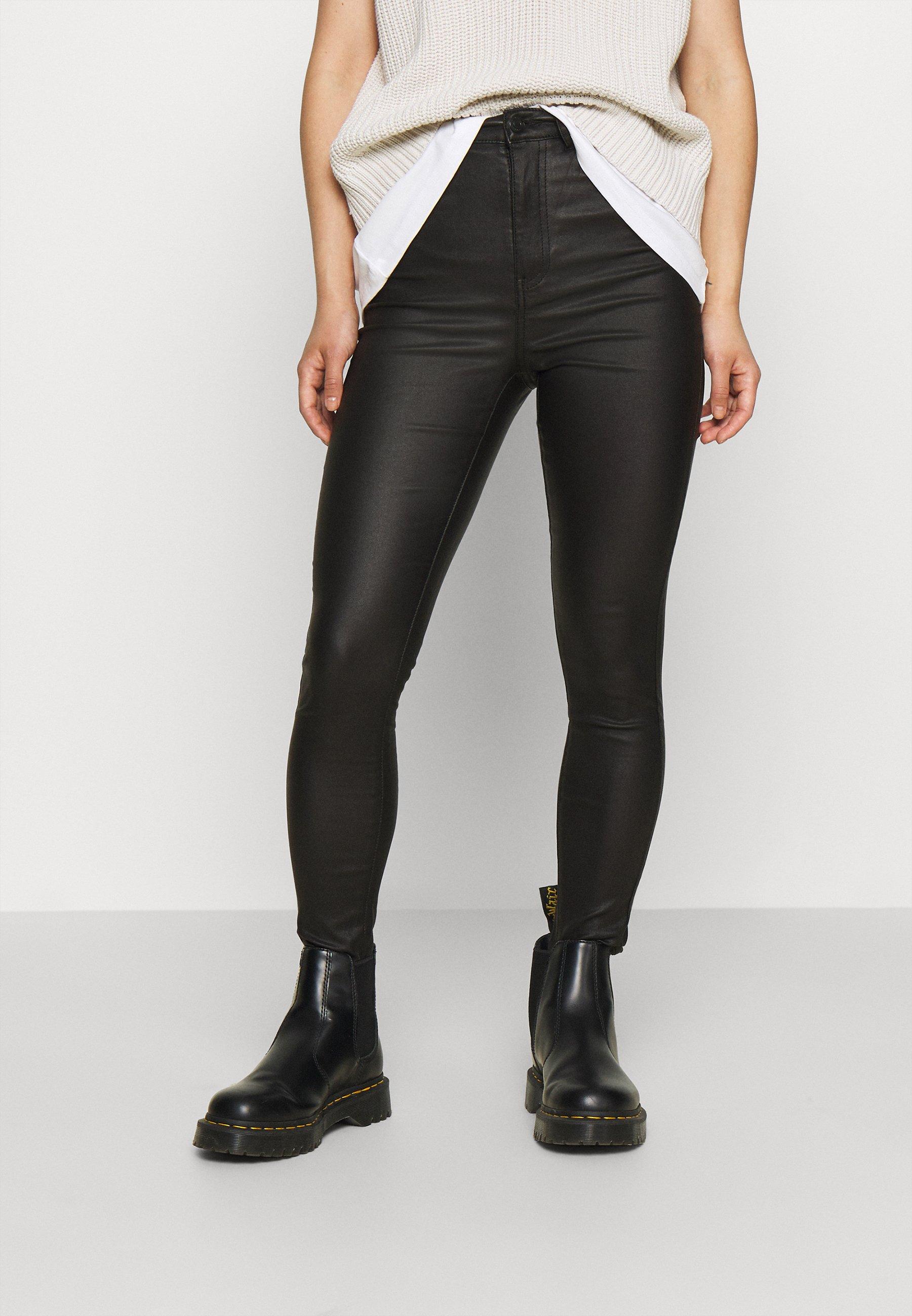 Femme VMSANDRA COATED - Pantalon classique