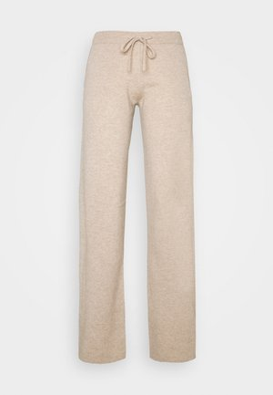 ESSENTIALS WIDE LEG PANT - Trousers - oatmeal
