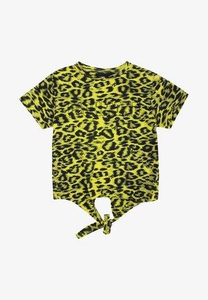 T-shirt con stampa - giallonero