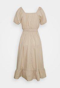 Cotton On Petite - WOVEN SHORT SLEEVE MIDI CORSET DRESS - Vapaa-ajan mekko - latte - 1