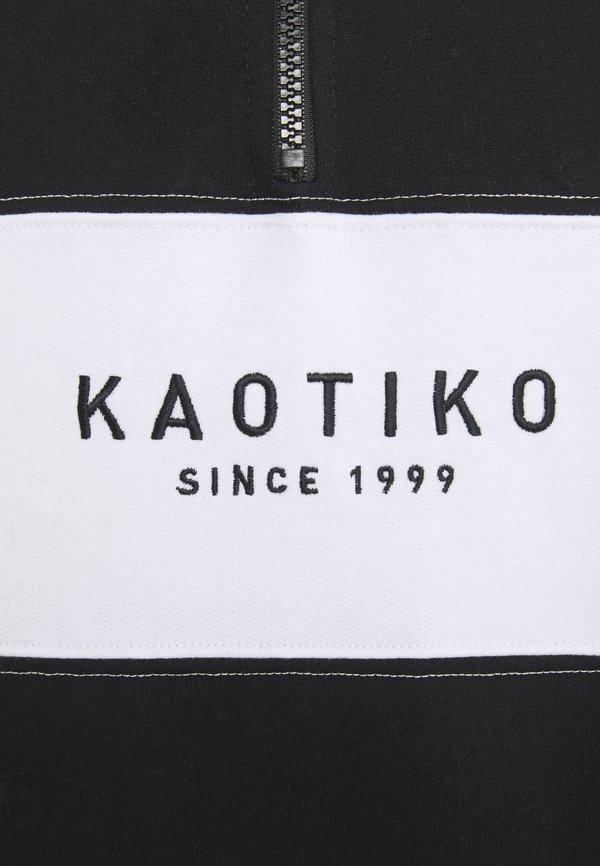 Kaotiko CREW COONOR - Bluza - black/czarny Odzież Męska DVJP