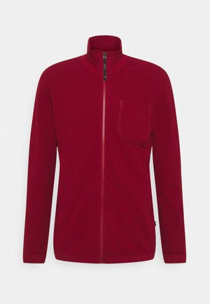 POCKET TAPE ZIP TWEETER - Cardigan - chateaux red