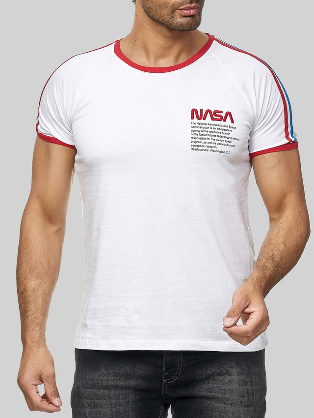 MIT GESTICKTEM NASA LOGO - Print T-shirt - weiß