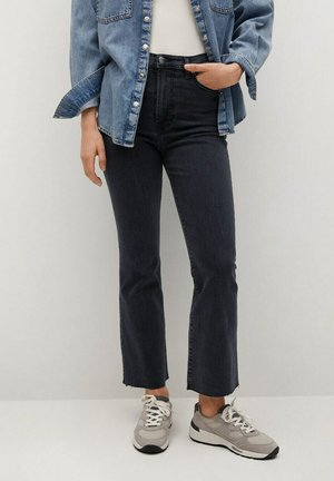 SIENNA - Bootcut jeans - black denim