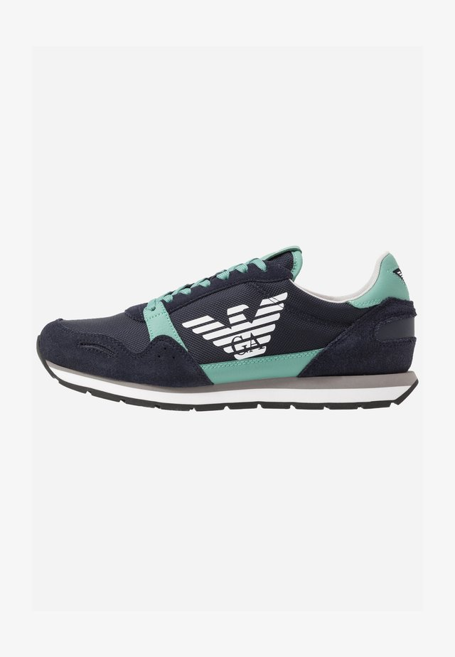 ZONE - Sneakers basse - navy/green