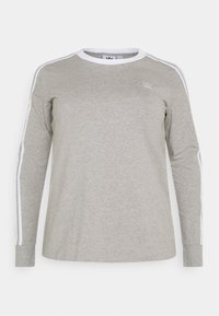 adidas Originals - Long sleeved top - grey heather/white - 4