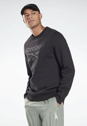 REEBOK IDENTITY FLEECE CREW SWEATSHIRT - Sweater - black