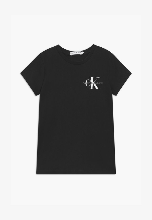 CHEST MONOGRAM - Basic T-shirt - black
