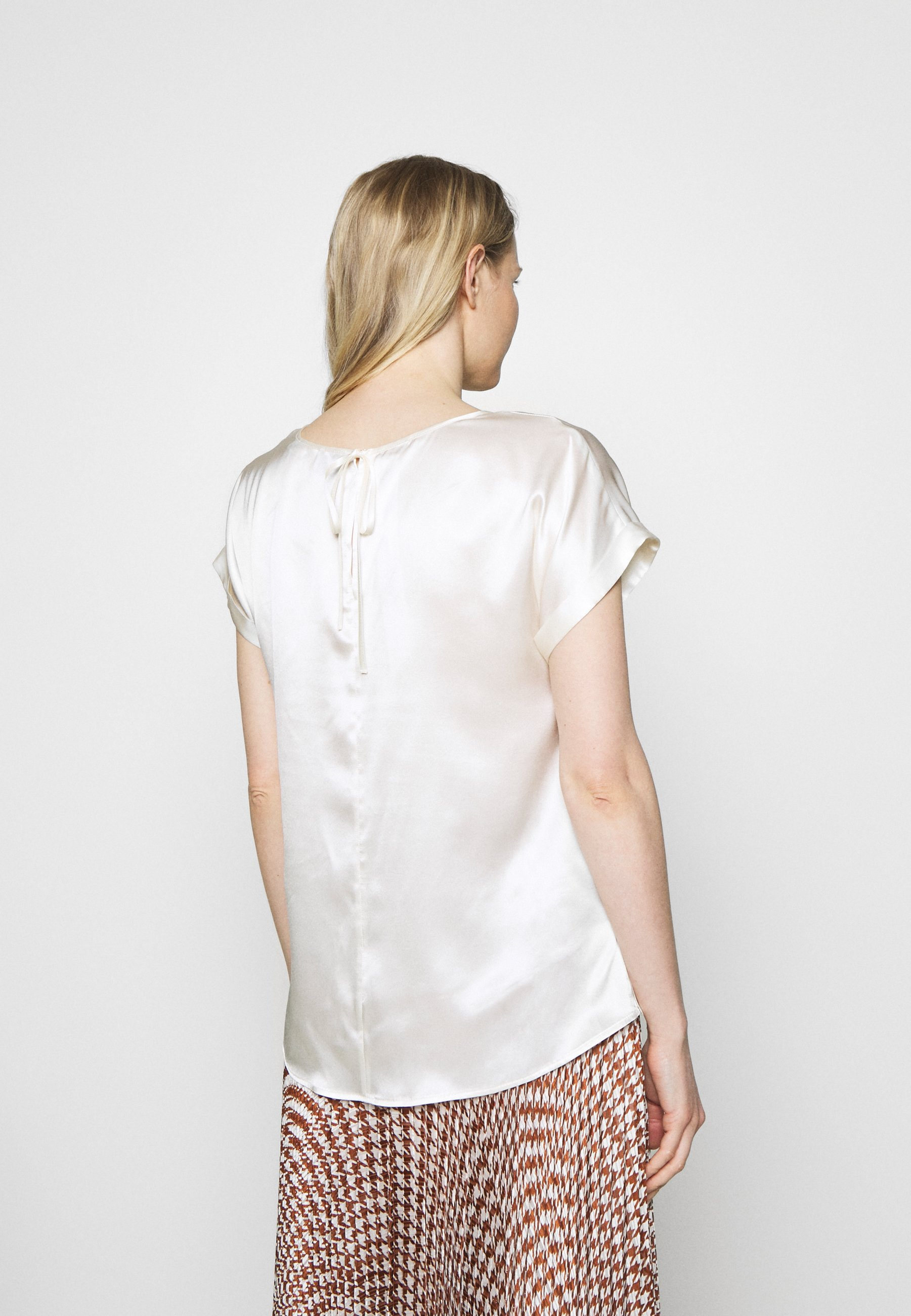 Best Supplier Women's Clothing Marc O'Polo PURE BLOUSE SHORT SLEEVE Blouse natural white gFKUF5hEK