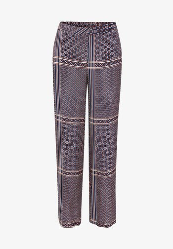 MIT MODERNEM ETHNO-PRINT - Trousers - navy