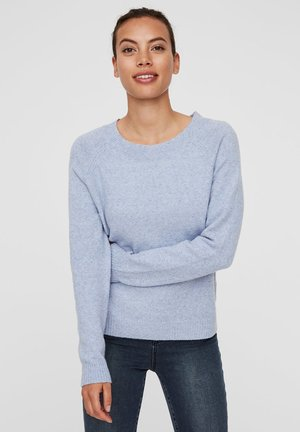 VMDOFFY O NECK - Jumper - blue ice/melange