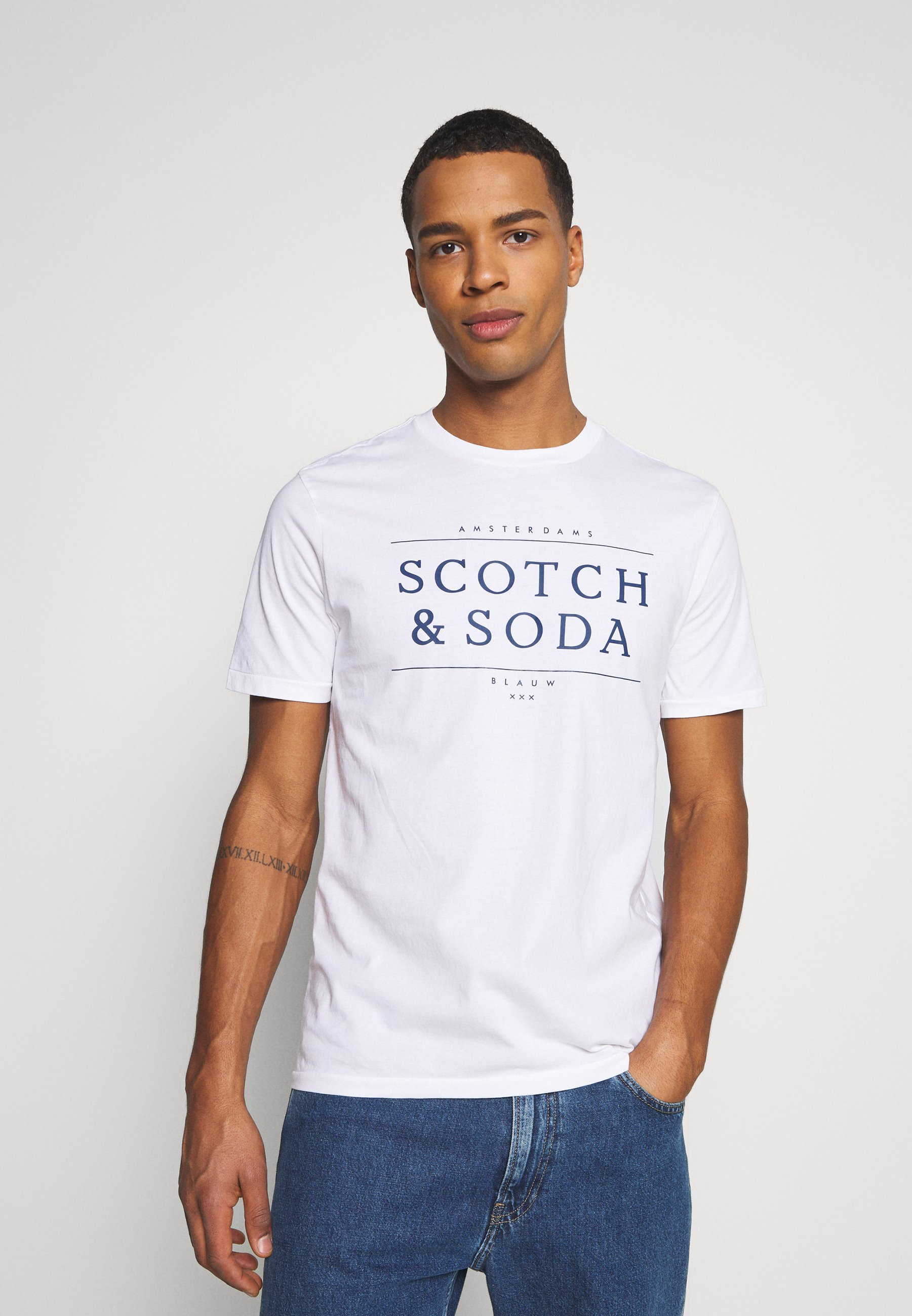 Homme SHORT SLEEVE LOGO TEE - T-shirt imprimé