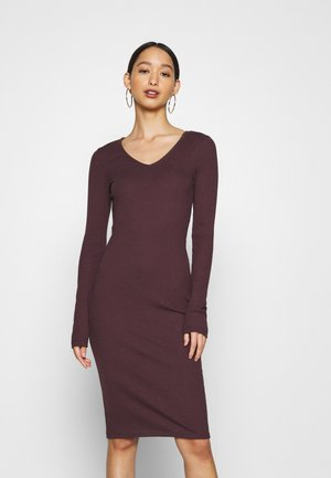 VMPOLLY NECK DRESS  - Shift dress - fig