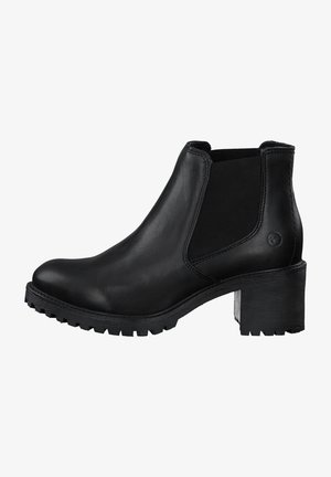 Bottines - black lea. uni