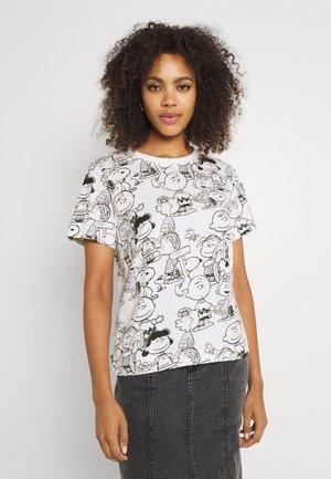 MYSEN PEANUTS - Print T-shirt - whisper white