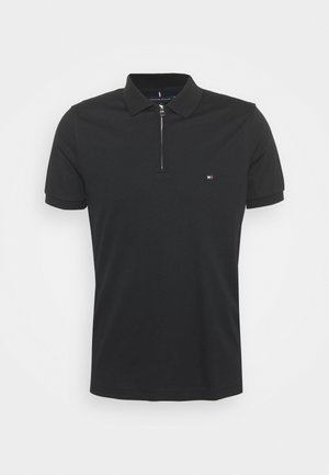 INTERLOCK ZIP SLIM  - Polo - black
