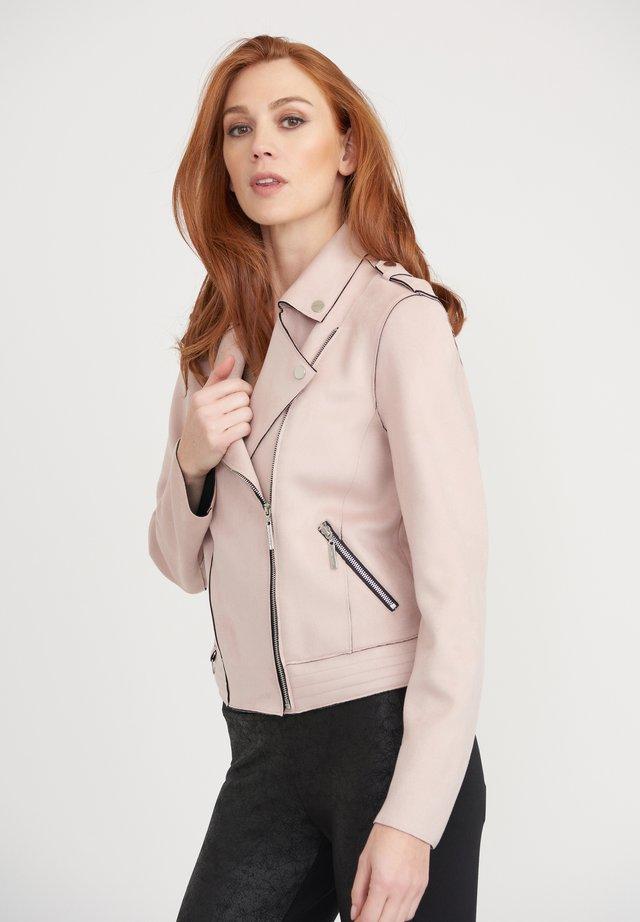 Faux leather jacket - blush